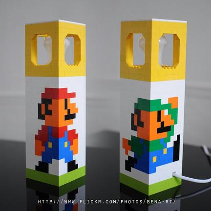 LEGO製髭兄弟の電気スタンド