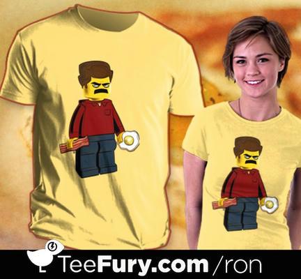 ロン・スワンソンのミニフィグTシャツ