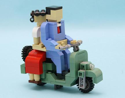 レゴ『ローマの休日』