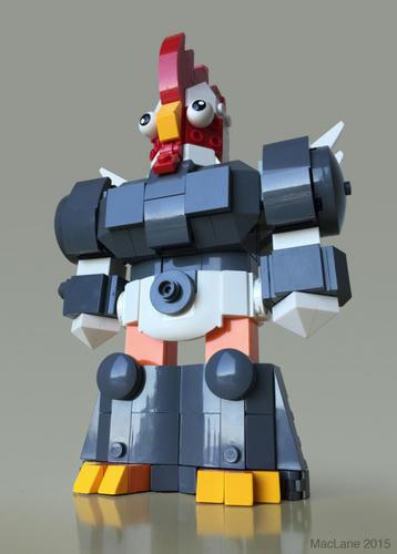 LEGOの何か変なニワトリロボ