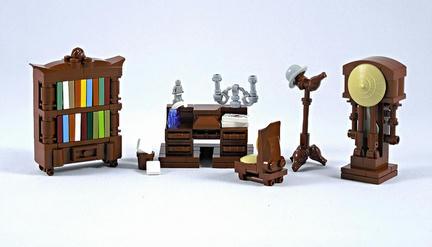 LEGOビクトリア様式の家具
