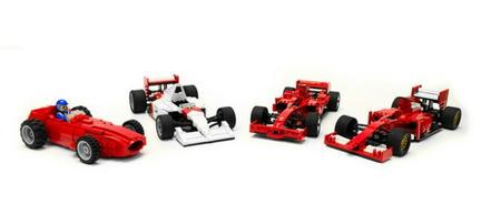 LEGO F1カー×4