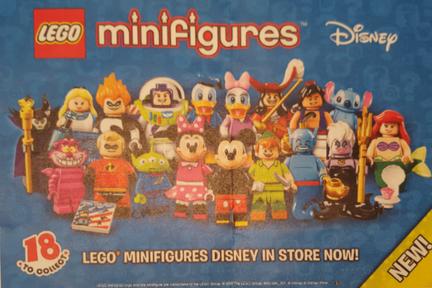 LEGOミニフィグシリーズ第18弾はディズニーキャラ
