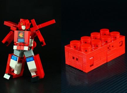 LEGOにトランスフォームするLEGOロボ