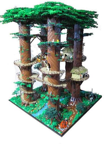LEGO『スター・ウォーズ エピソード6』イウォークの森