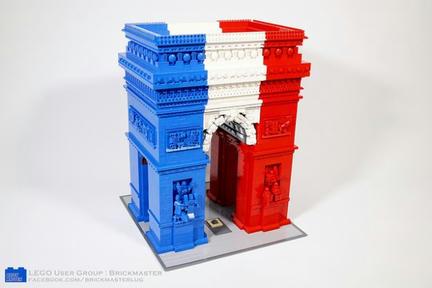 LEGOトリコロール凱旋門