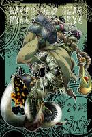 年賀状2013 魔蛇螺