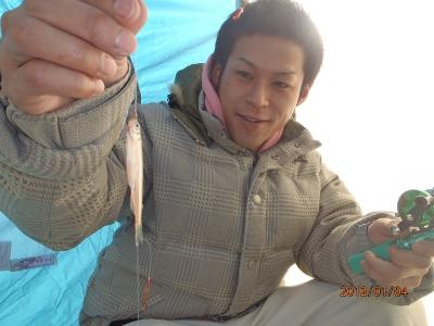 2012-01-04-001 南幌親水公園 ワカサギ