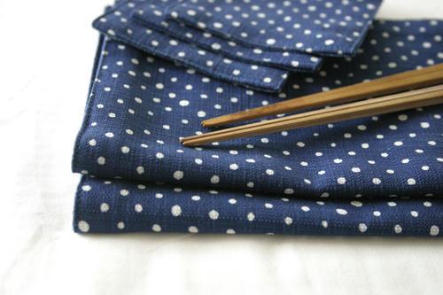 箸袋と煤竹箸