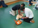人工呼吸や胸骨圧迫の訓練を行いました。