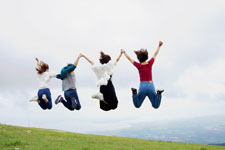 写真教室撮影実習ジャンプ