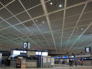 お約束の成田空港ロビー