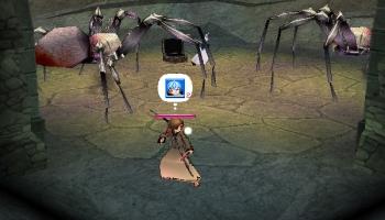 巨大白クモは・・・みーてーるだーけー/オイ