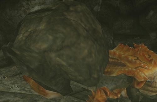 少しずつ岩?みたいなのがはがれていきますねえ。