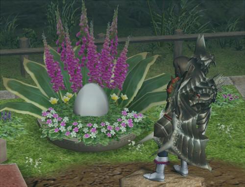 面倒だったので、ガーデンネコが拾ってきた卵です(おうい)。