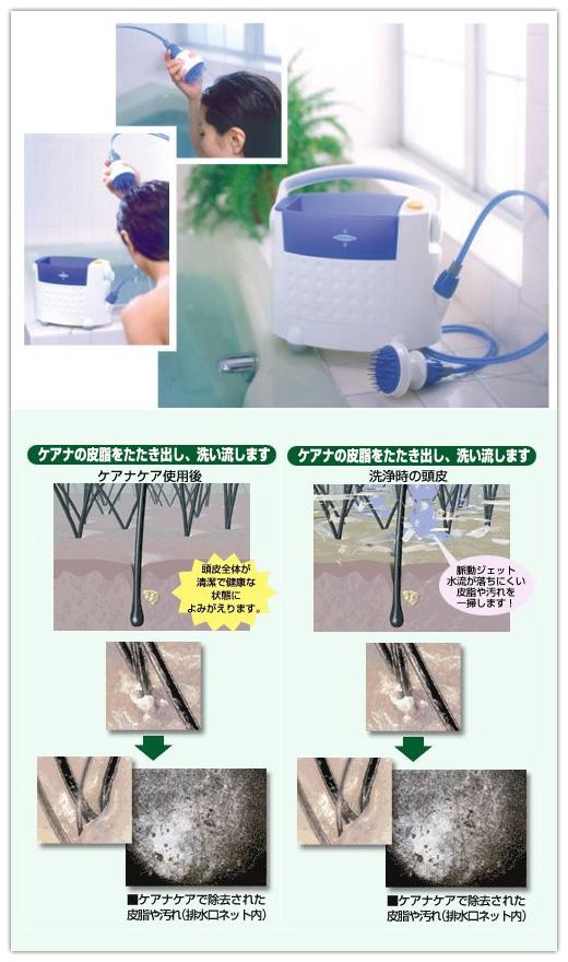 ケアナケア 脈動ジェット水流パーソナル 頭皮洗浄器 コードレス 8T36