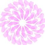 切り紙フラワーアート的お絵かきソフト