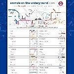キュートな地下鉄地図の動物
