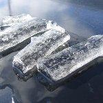 自然の氷アート
