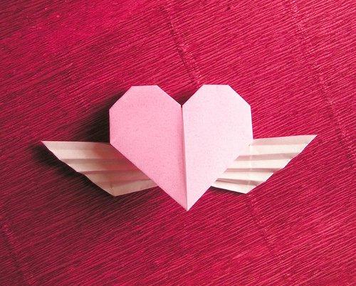 簡単 折り紙 折り紙でハートの作り方 : divulgando.net