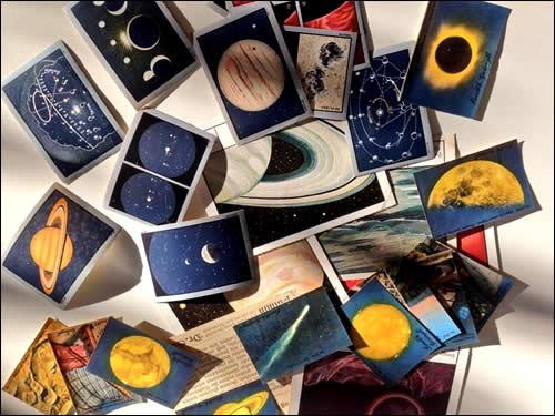理系アンティーク天体カード
