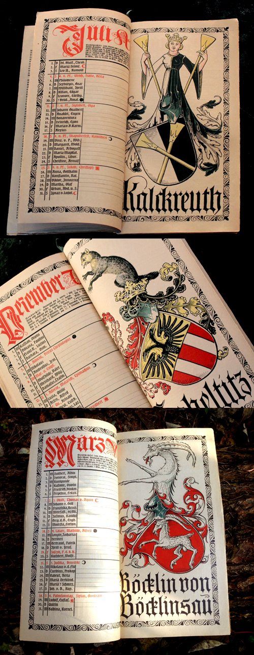 オットーハップのミュンヘンカレンダー1926年