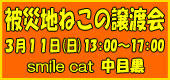 被災猫の譲渡会のお知らせ3/11中目黒