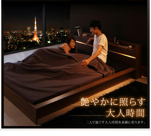 短いベッドと収納付きベッドで狭い部屋を有効活用