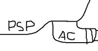 差込んでいるACアダプターのイメージ