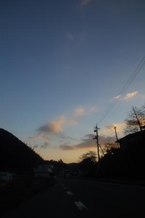 車窓から見た朝焼け
