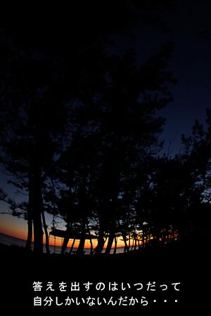 ゆるいカーブ夕日
