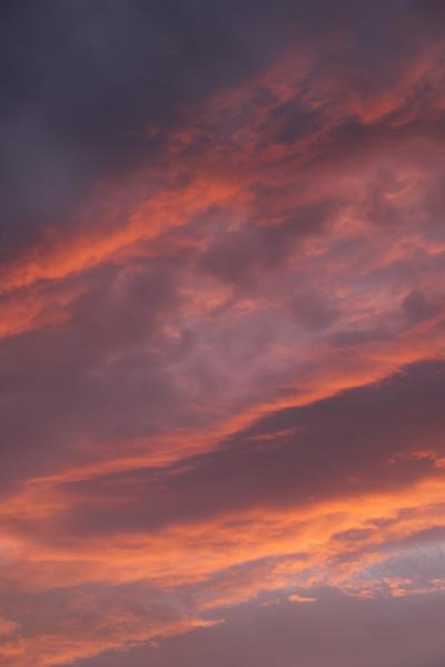 5月25日、高知の夕焼け空模様。