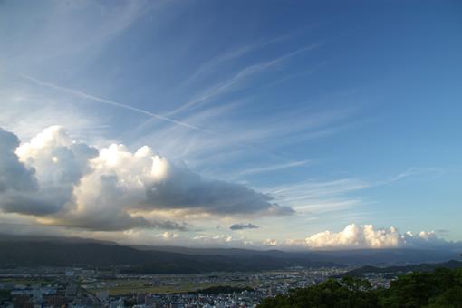 雲の一斉攻撃?