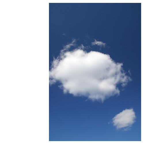 プカプカ、雲二つ。。