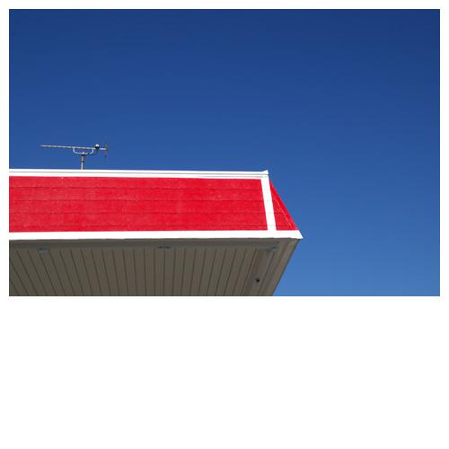 赤ペンキの屋根