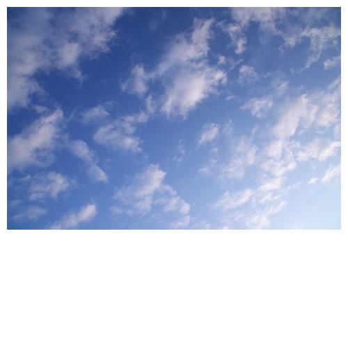 青と冷たい風。