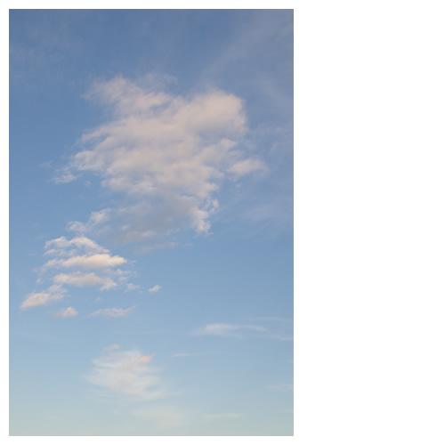 青空に浮かぶ雲の形はおもしろい。