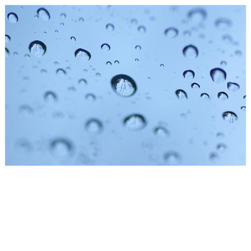 水滴:先週日曜日の車窓から・・・