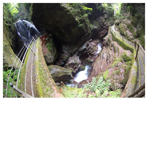 「雨竜の滝」までの歩道