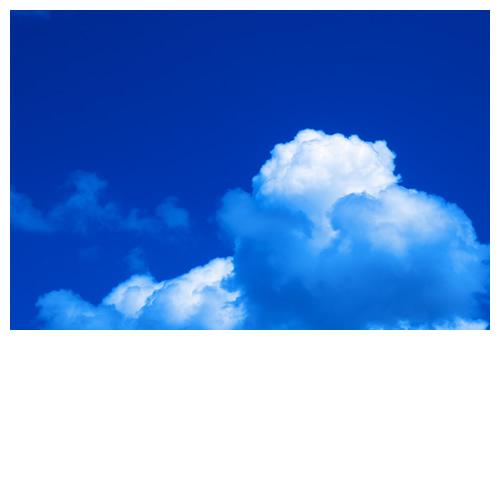 久しぶりにカメラを空に向けた今日。入道雲っぽいよ。