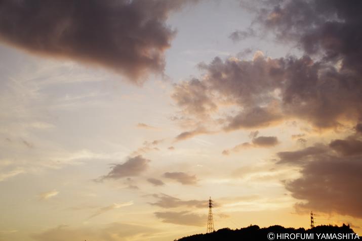 昨日の夕焼け空がキレイで目に染みた件。