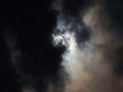 金環日食-終わり始め-7時36分
