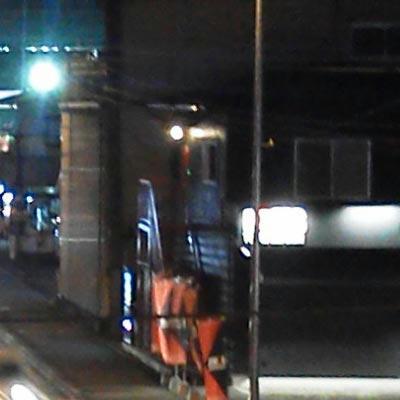 ドコモN-06B夜景撮影標準モードAWB等倍切取り画像