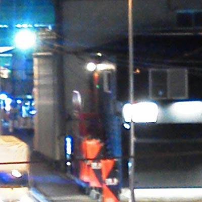 ドコモN-06B夜景撮影夜景モードAWB等倍切取り画像