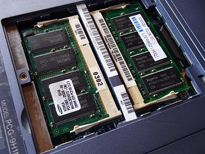 SONY VAIO PCG-FR33のメモリスロット
