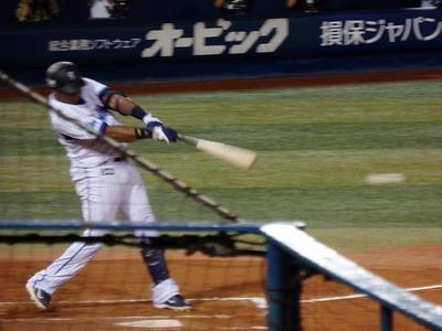 バルディリス選手の強烈な打球