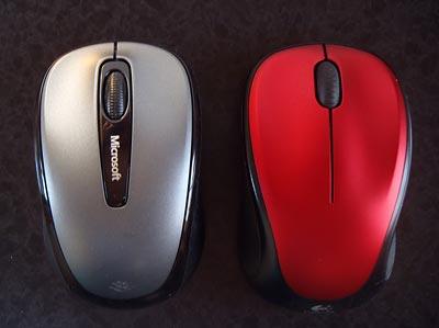 Microsoft Wireless Mobile Mouse 3500とロジクールワイヤレスマウス M235の比較