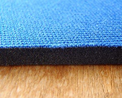 Digio2 マウスパッド ブルー MUP-TK01BLの断面クローズアップ
