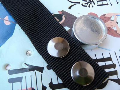 ドットボタン(アメリカンホック)雌のカシメ後