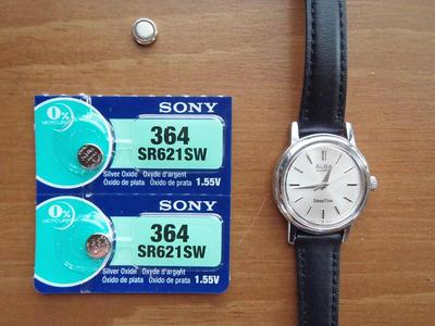 ソニー製ボタン電池SR621SW日本製。腕時計に使用